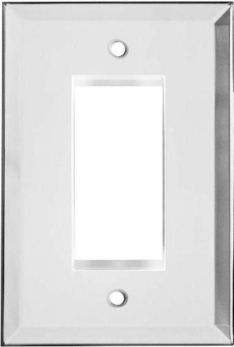 GLASS MIRROR Clear Switchplates 1 Decora