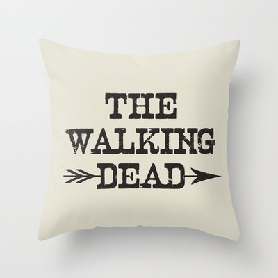 nicholascgshoponline c4663 F cotone lino Decorative Throw Pillow Cover cuscino The Walking Dead 45,7 x 45,7 cm