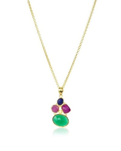 Jardin Green Multi Mosaic Pendant Necklace As You See