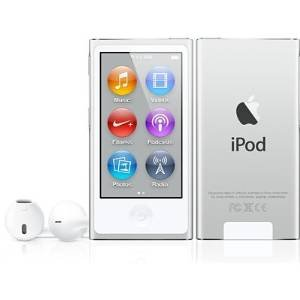 LATEST MODEL Apple Ipod Nano 7th Generation 16 GB Silver With Generic White Earpods and A USB Data Cable (Non Retail Packaged in a Brown Box)