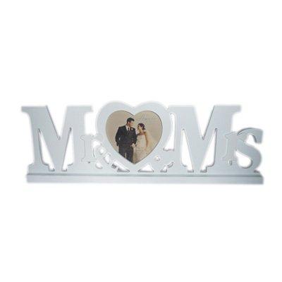 Mr & Mrs Heart Design Freestanding Photo Frame