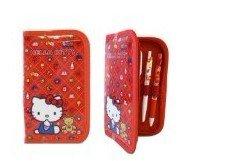 Sanrio Hello kitty Stationery Set - 9pcs Kitty Pouch and Stiudy kit