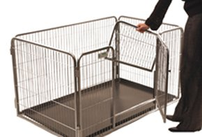 Crufts Safe and Sturdy Puppy Play Pen - 35 ins high