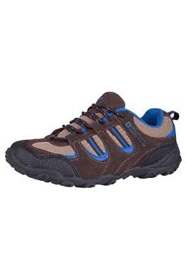 Mountain Warehouse Thistle Kids Boys & Girls Durable Suede Mesh Walking Hiking Shoes Cobalt 10 Child UK