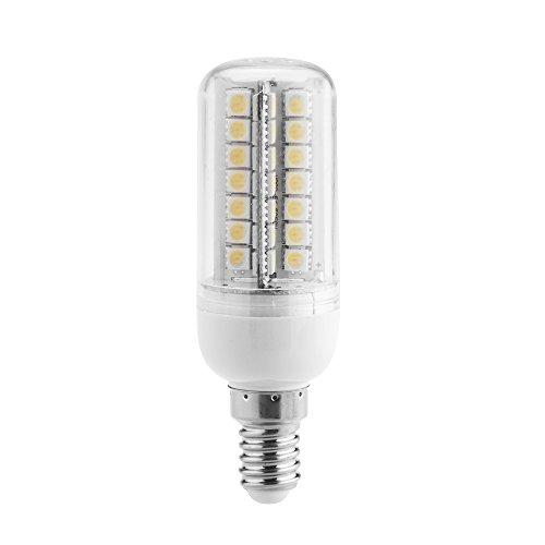 Kkmoon E14 7W 5050 Smd 56 Leds Energy Saving Corn Light Lamp Bulb 360 Degree Lighting Angle Warm White 200-230V