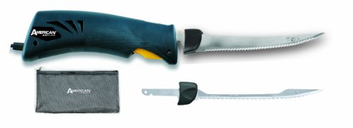 American Angler Classic EFK Knife with 8-Inch Freshwater and Saltwater Blades, Blue