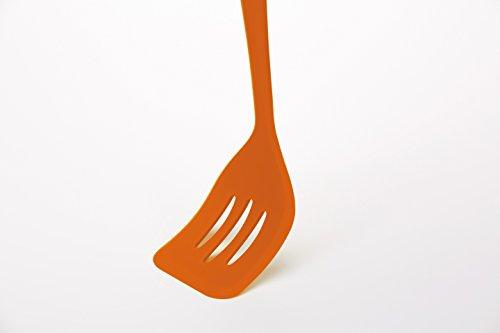 Paletta forata silicone colourworks arancio palette for Attrezzi cucina in silicone