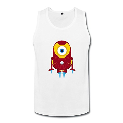 ZHUYOUDAO Men's The Avengers Tony Stark Iron Man Despicable Me Minions Tank Top
