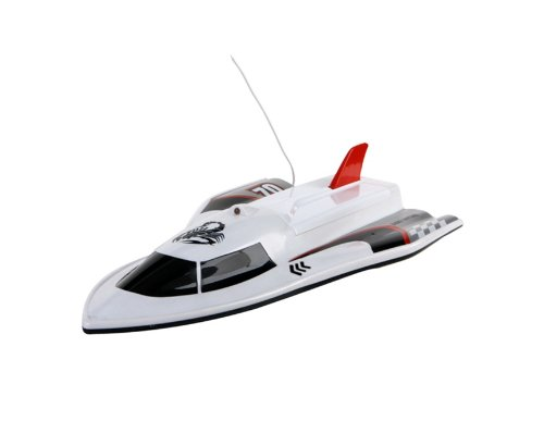 3362 20km/h Water-Resistent Remote Control Racing Boat (White)