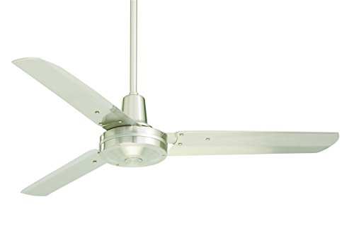 Emerson Ceiling Fans HF948BS industrial Fan, Indoor Ceiling Fan With 48-Inch Blades, Brushed Steel Finish (Emerson 50 Ceiling Fan compare prices)