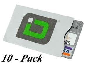 Identity Stronghold RFID Blocking Secure Sleeve / Case for Id & Credit Card - Pack of 10