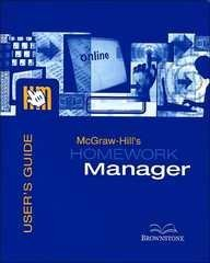 McGraw-Hill's Homework Manager User's Guide and Access Code to accompany Intro to Managerial Accounting 2e