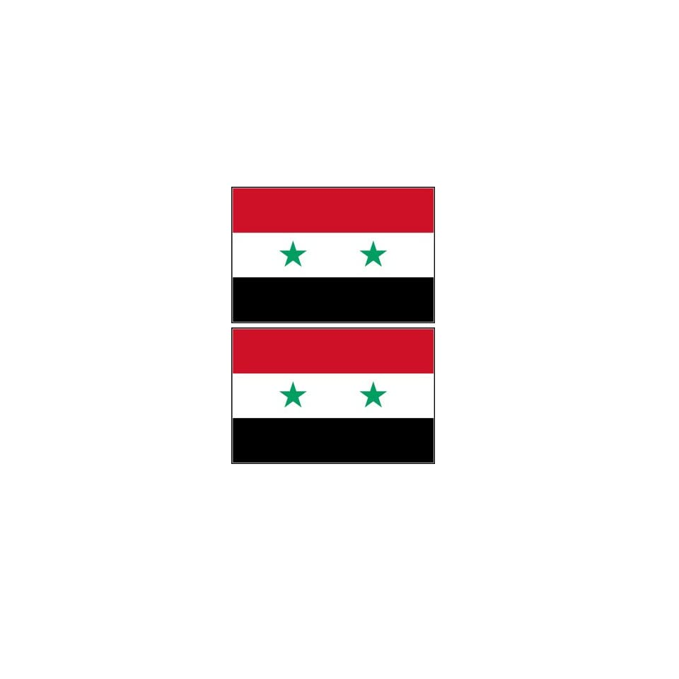 Syria Syrian Flag Stickers Decal Bumper Window Laptop Phone Auto