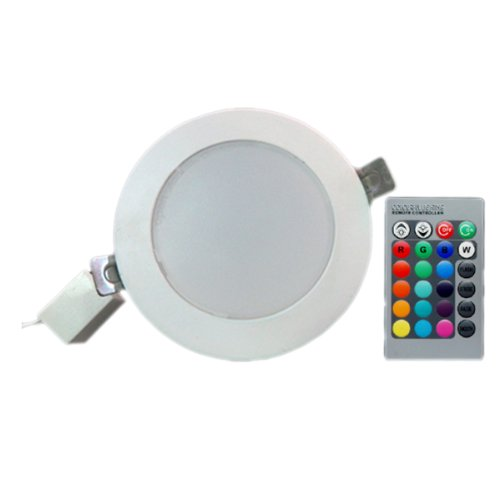 Aubig 5W Round Rgb Led Ceiling Light Downlight 110V/220V With Ir Remote Control