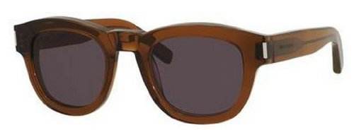 Yves Saint LaurentYves Saint Laurent Bold 2/S Sunglasses-0K7M Brown (Y1 Gray Lens)-49mm