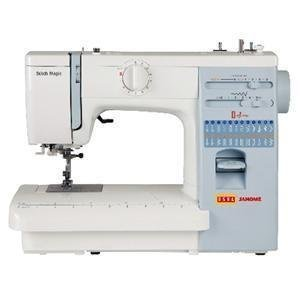Usha Janome Automatic Stitch Magic 80 Watt Sewing Machine White and Blue  available at Amazon for Rs.15750