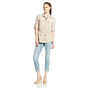 Calvin Klein Women's Soft Camp Jacket, Latte, X-Small