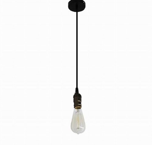 Ecopower Vintage Hanging Pendant Light Fixture Come With Nostalgic Edison Squirrel Cage-Style Thread Filament Bulb