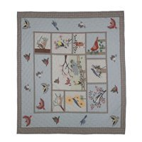 "Songbirds Quilt King 105""x 95"" QKBIRD by Patch Magic"