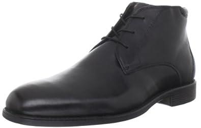 Johnston & Murphy Men's Suffolk Plain Toe Boot,Black/Grain,7.5 M US