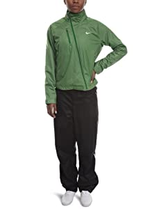 Nike Women's Warm-Up Suit - Green/Black, Size 6/8 (Old