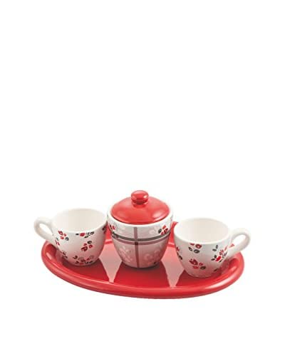 Galileo Set Taza Moka 4 Uds. Oxford Rojo