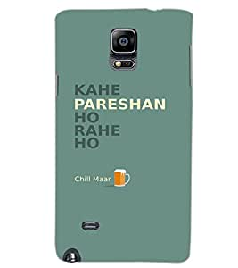 SAMSUNG GALAXY NOTE 4 KAHE PARESHAN Back Cover by PRINTSWAG
