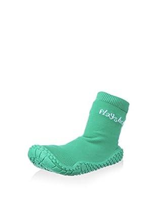 Playshoes Calzado de baño Socks (Verde)