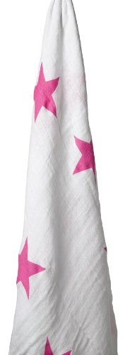 anais in Aden (Aden and ANA) [Japan AE: muslin cotton swaddling single twinkle pink stars wrap-9008
