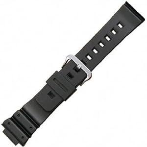 Casio Style Watchband Fits Casio G-Shock G-6900,GW-6900,DW-6900, and DW-6600 Black Polyurethane 16mm - by JP Leatherworks