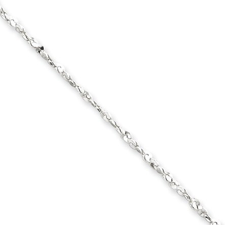 Black Bow Jewellery Company : 1.8mm, Sterling Silver, Twisted Serpentine Chain, 24 Inches