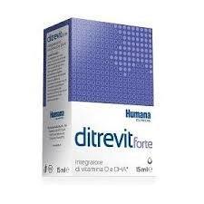Humana Ditrevit Forte Integratore Alimentare per Bambini per la Crescita - 15 ml