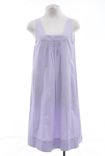 Eileen Fisher Wisteria Purple Cotton Momen Shift Dress Large
