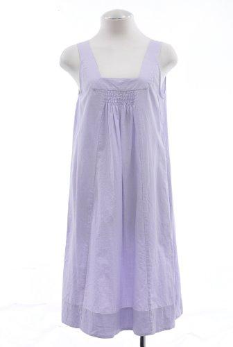 Eileen Fisher Wisteria Purple Cotton Momen Shift Dress Large