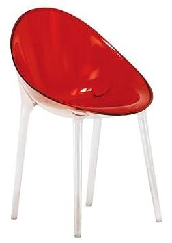 Kartell 584044 - Silla de salón, color rojo / naranja