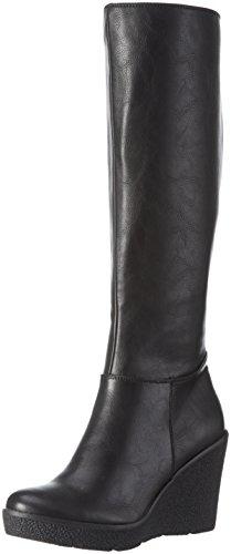 Buffalo 169671 - Stivali alti con imbottitura leggera Donna, colore Nero (black 01), taglia 41 EU