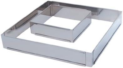 De Buyer 3014.16 Cadre Extensible Carré inox - ht. 5 cm - de 16 x 16 cm à 30 x 30 cm