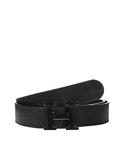 Husky Cinturón Piel Negro