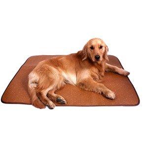 Foldable Cooling Summer Pet Dog Cat Rattan Sleeping Mat Pad