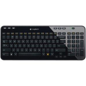 Logitech K360 Wireless Keyboard, Black, French (920-004090)