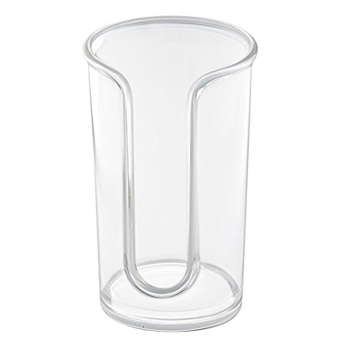 InterDesign Clarity Disposable Paper Cup Dispenser for Bathroom Countertops - Clear (Bathroom Cup Holder compare prices)