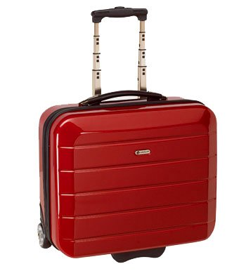 Trolley Reisekoffer Cabin-Case Hartschale rot,