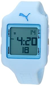 PUMA Women's PU910792014 Slide Small Digital Light Blue Watch