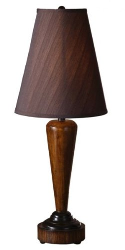 Uttermost Decorative Lamp With Distressed Honey Pecan Stain