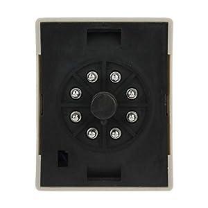 Digital Timer Relay,AH3D LED Timer Relay 2-Digit Time Relay 9.9S 99S 9.9M 99M 9.9H 99H Adjustable(DC 24V) (Tamaño: DC 24V)