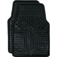 Custom Accessories 78611 All Season Floor Mat-2PC BLK WEATHER FLR MATS