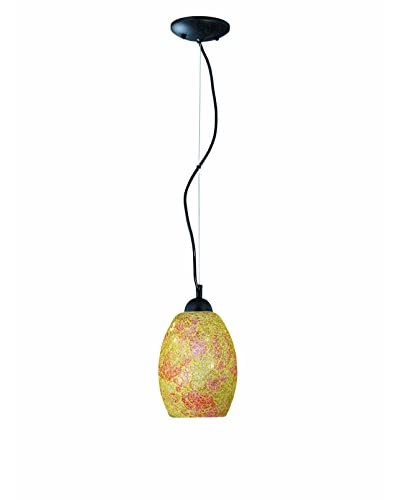Lite Source Crepitar Pendant Lamp, Polished Steel/Crackled