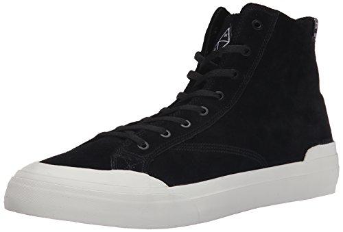 HUF Men's Classic Hi Vintage Inspired Hi Top Skate Shoe, Black/Bone, 7.5 M US