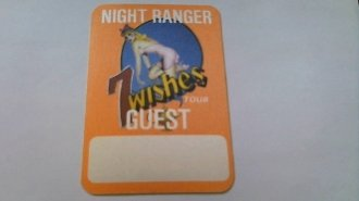 1986 Night Ranger Backstage Pass 7 Wishes Tour Guest (Wish Ticket Roll compare prices)