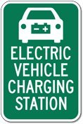 Electric Vehicle Charging Station Sign - 12X18